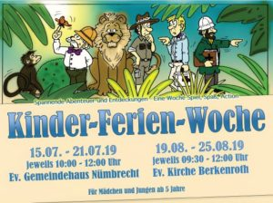 Kinder-Ferien-Woche @ Ev. Kirche Berkenroth